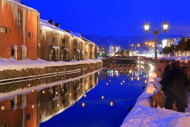 小樽市-小樽雪あかりの路(小樽運河)4