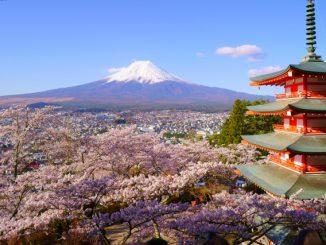 富士吉田市-(富士浅間神社)富士山