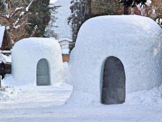 横手市-横手の雪まつり かまくら