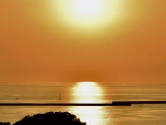 浜田市-浜田港の夕日