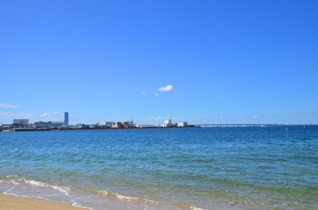 貝塚市-(二色の浜公園)大阪湾の夏2