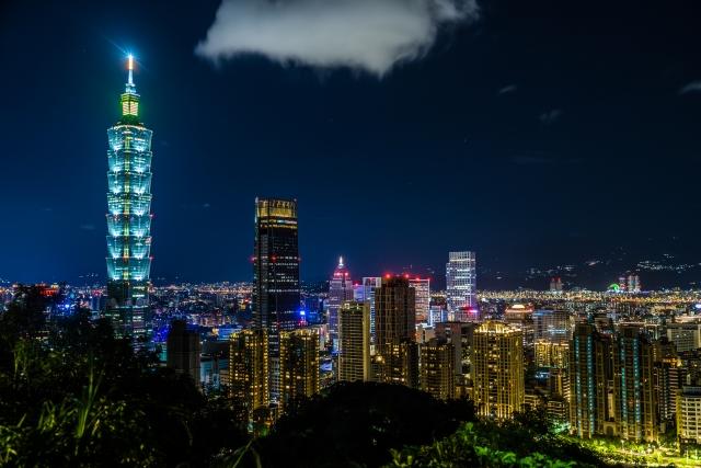 台湾-台北の象山から見える台北の夜景