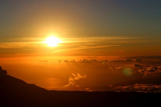 (ハワイ)マウナケア山-マウナケアから見るサンセット
