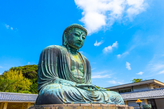 鎌倉-鎌倉大仏 青空