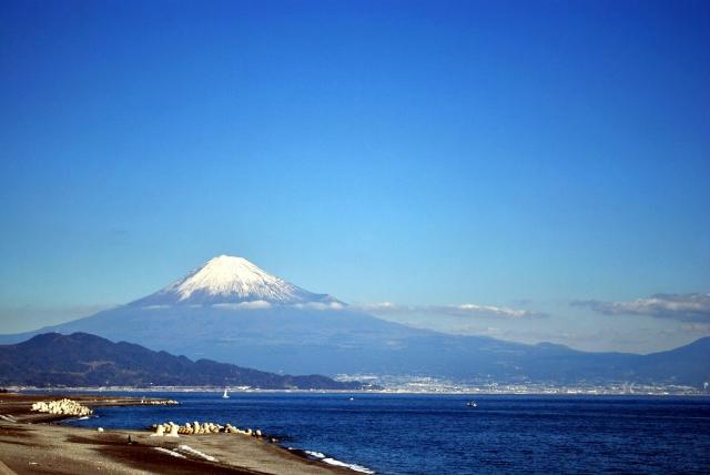 (静岡)三保海岸-三保からの富士山