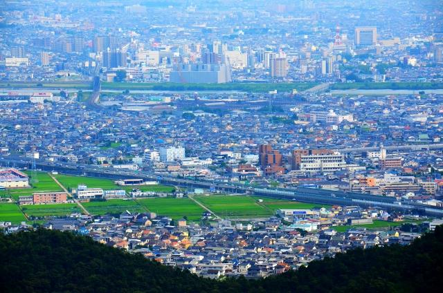 加古川-山の上から見た町並み