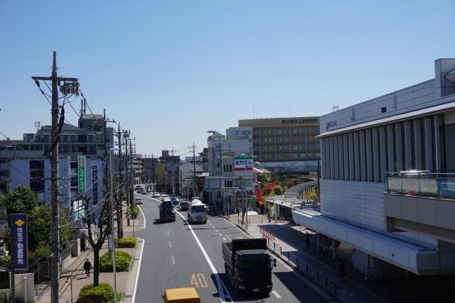 登戸-JR登戸駅と多摩沿線道路