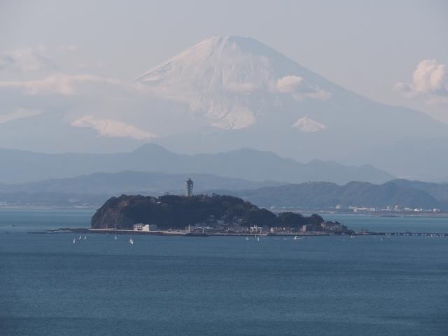 逗子-大崎公園から江ノ島と富士山