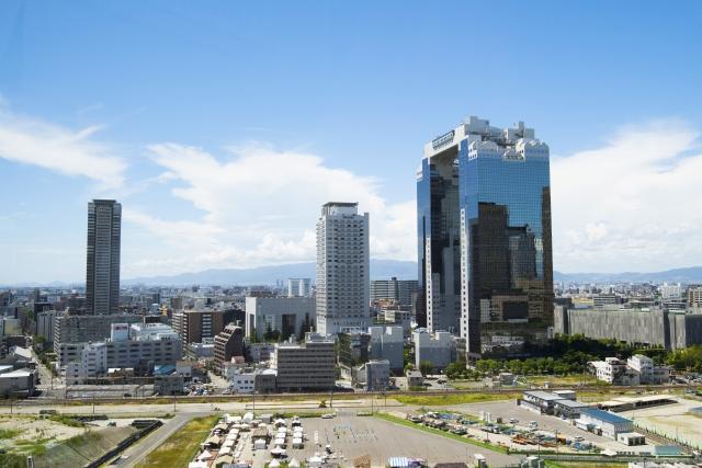 梅田-(空中庭園展望台)大阪 都市風景