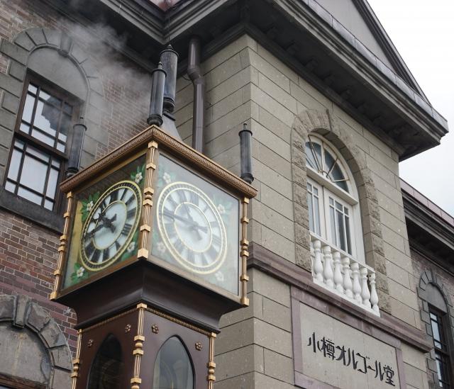 小樽-小樽オルゴール堂と蒸気時計