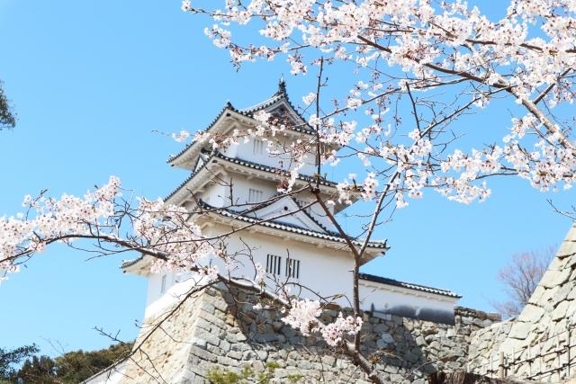 明石-春の明石城の櫓