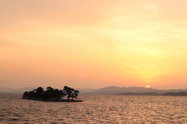 松江-宍道湖の夕日
