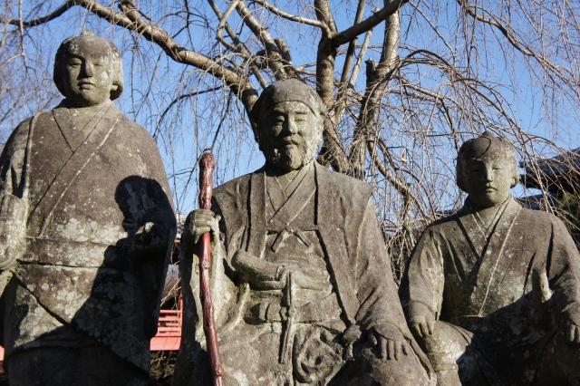 水戸-水戸黄門御一行様石像