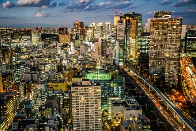 浜松町-シーサイドトップ(世界貿易センタービルの展望台)からの風景