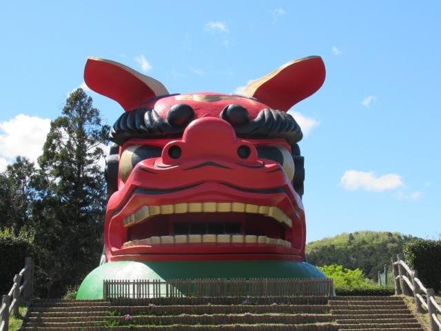 石岡市-日本一巨大な獅子