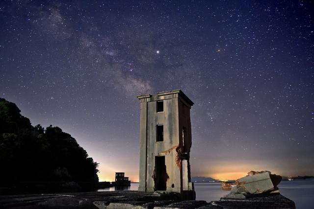 川棚町‐片島魚雷発射試験場跡と天の川