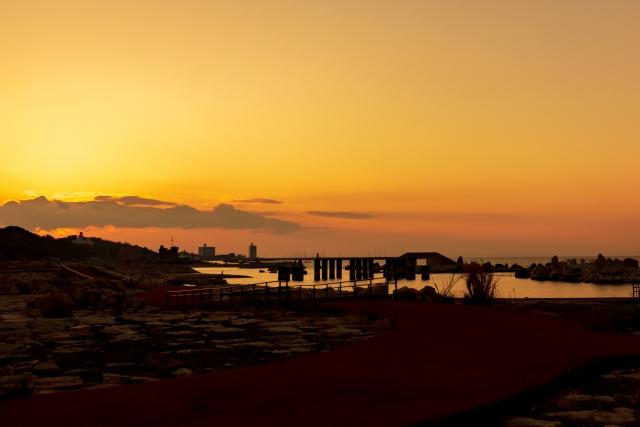 (阪南市)せんなん里海公園‐海と夕暮れ1