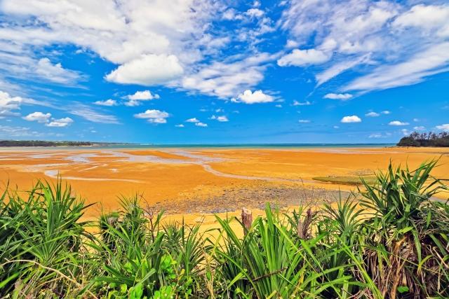 宜野座村‐沖縄県 宜野座村 潟原の干潟